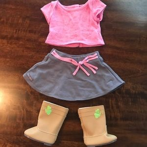 American Girl outfit with boots